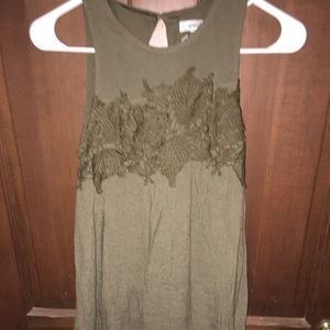 Xs olive colored dress.